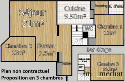 Centre-ville: 4 pièces: Image 1