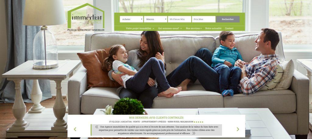 Nouveau Site Web d'Agence Immédiat